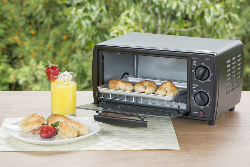 Small toaster oven in natural environment